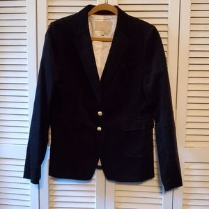 Banana Republic Black Ribbed Blazer